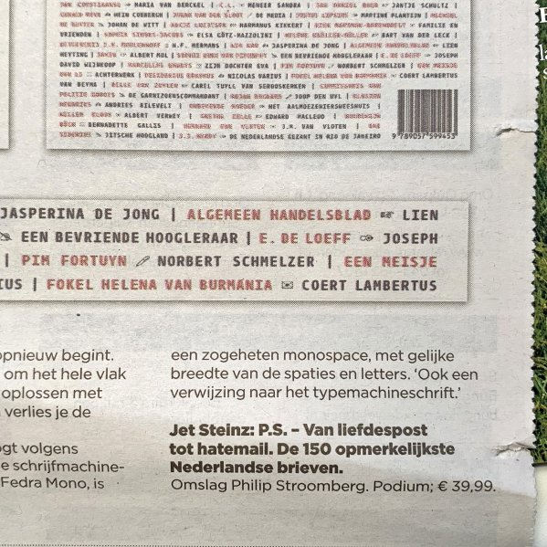 P.S. – detail – de Volkskrant 7 december 2019