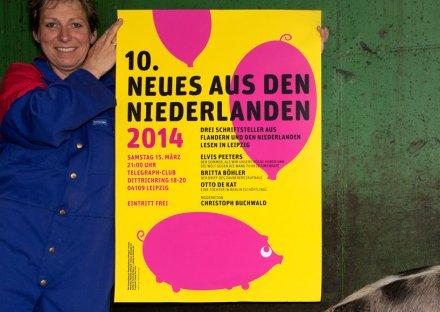 Stroomberg - Affiche Neues Aus Den Niederlanden 2014, Nederlands Letterenfonds
